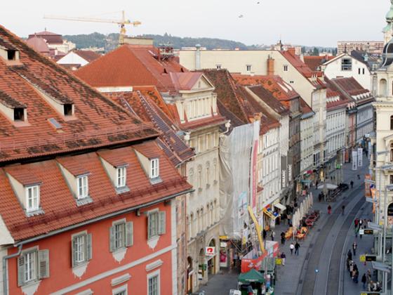 Graz_Straßenszenerie
