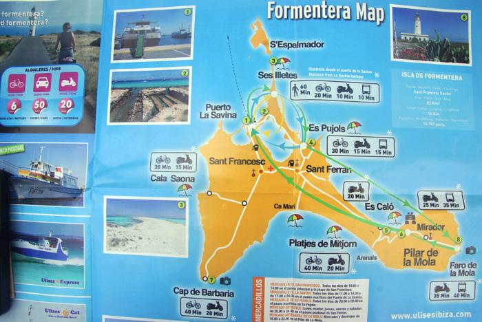 Formentera-Karte