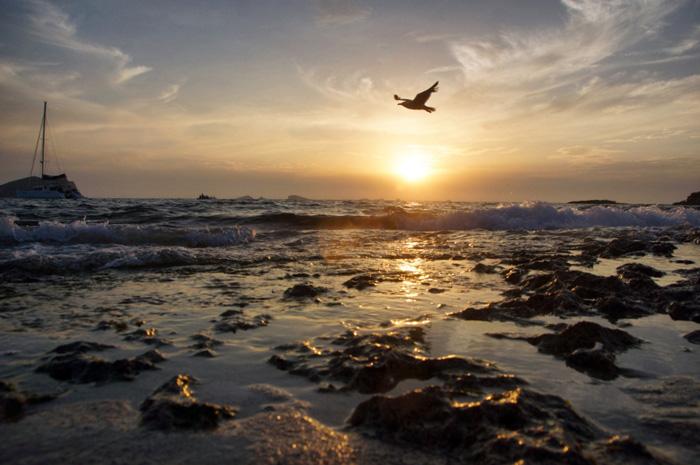 Sonnenuntergang-Ibiza