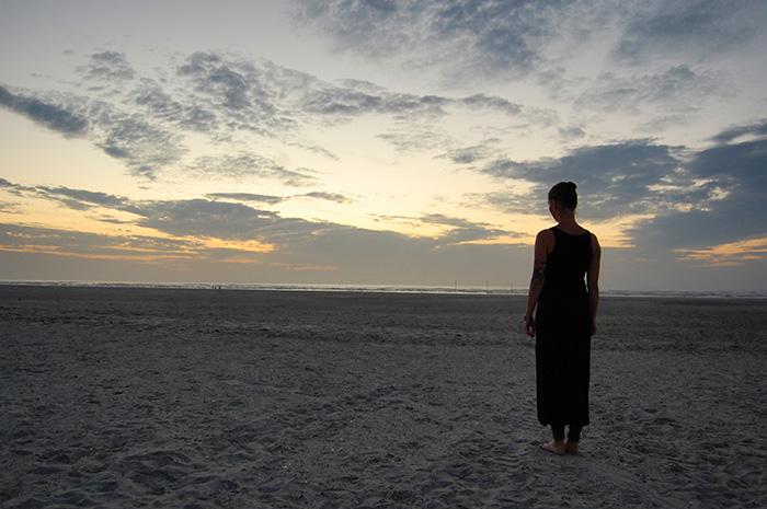 Pia am Strand