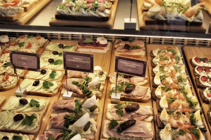 Essen in Prag Sandwiches
