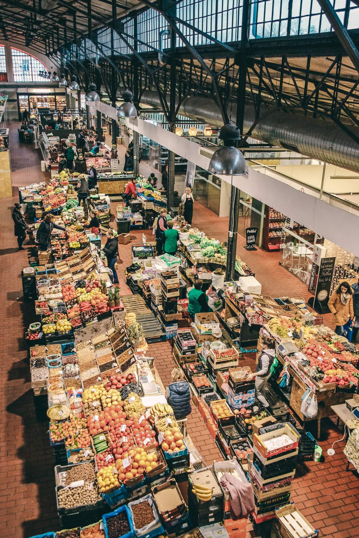 markthalle vilnius von oben