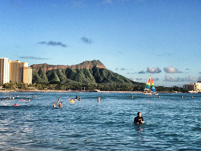 Oahu_badende-Menschen