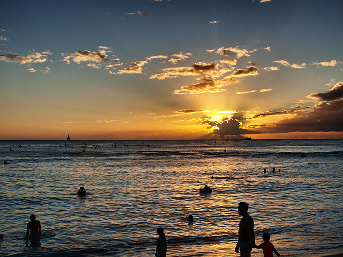 Oahu_Sonnenuntergang-Waikiki
