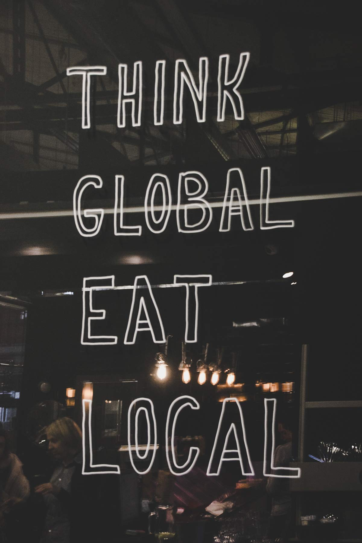 think global eat local vilnius