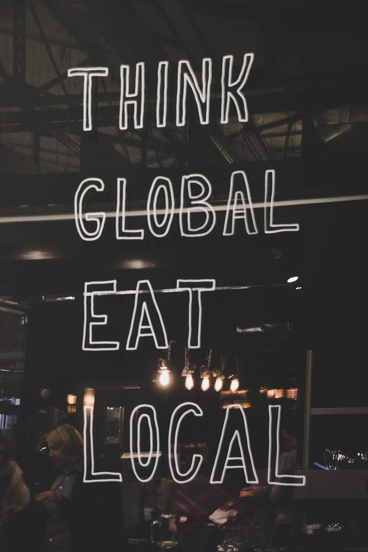 think global eat local vilnius