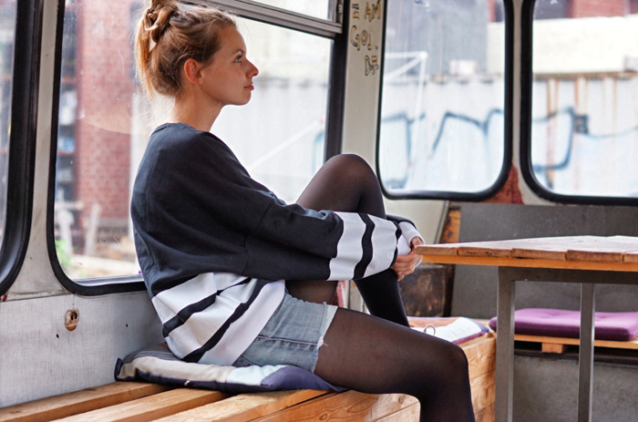 Christine-im-Bus