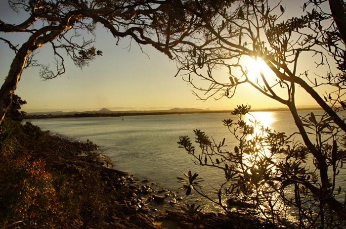 Nationalpark-Noosa-Sonnenuntergang