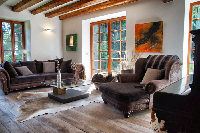 Wohnzimmer-Herrenhaus