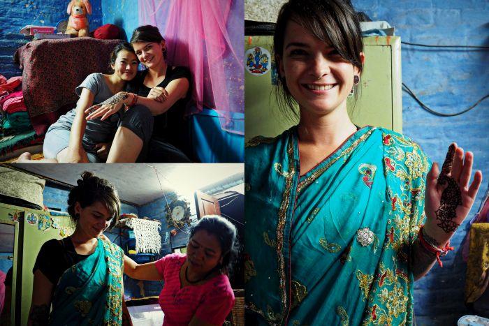 Urlaub in Nepal Sari Henna