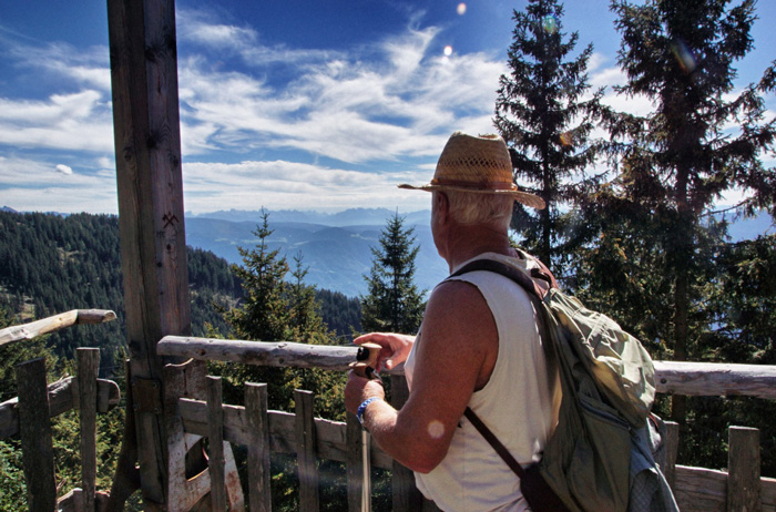 Höhenweg-Wanderer
