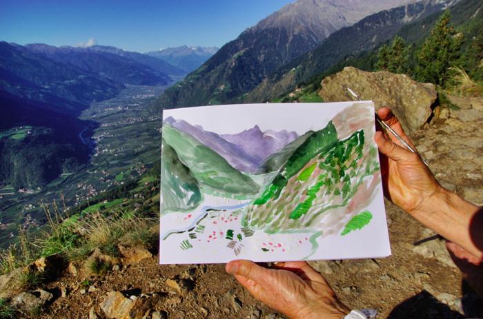 Meraner-Höhenweg-Gemälde