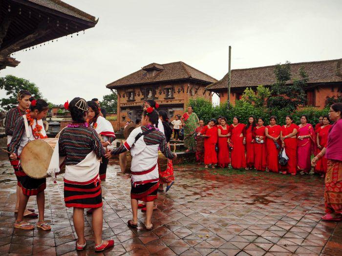 Urlaub in Nepal Tanz