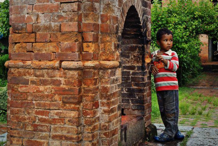 Urlaub in Nepal Kind
