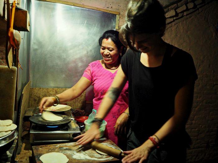 Urlaub in Nepal Kochen in Nepal
