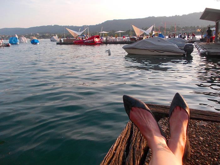 Schweiz-Zürichsee-Füße