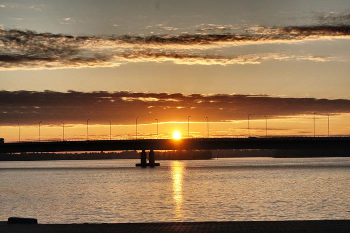 Sonnenuntergang-Helsinki