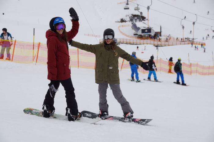 Skigebiet Mayrhofen Parkgirls