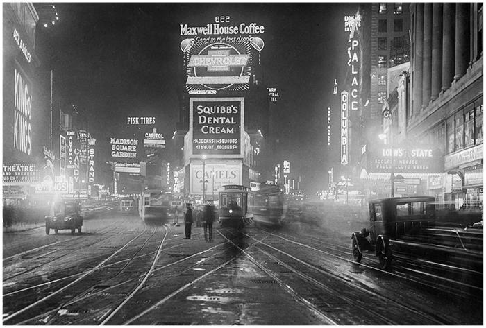 photocircle_1928_Times_Square_bei_Nacht_sueddeutsche_zeitung