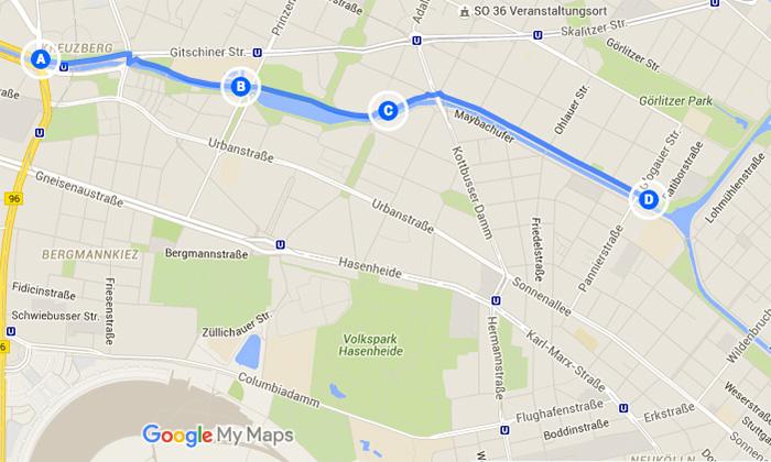 Laufstrecken-in-Berlin - Landwehrkanal