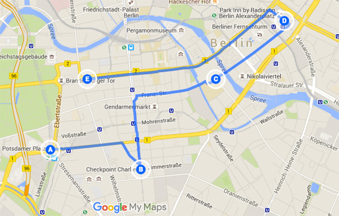 Laufstrecken-in-Berlin - Sightseeing-Tour