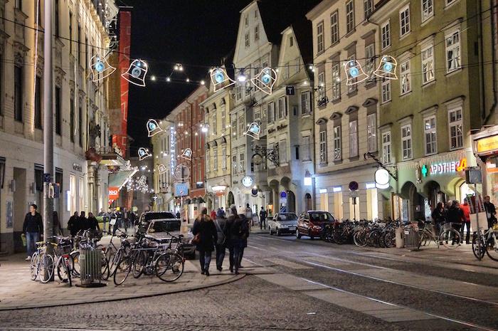 Weihnachten in Graz City Center Deko