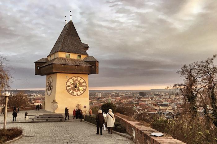 Weihnachten in Graz Spaziergang auf dem Schlossberg