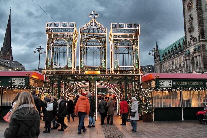 Hamburg im Winter-Weihnachtsmarkt Hamburg