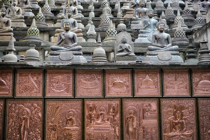 Kupfer-Steinbuddha