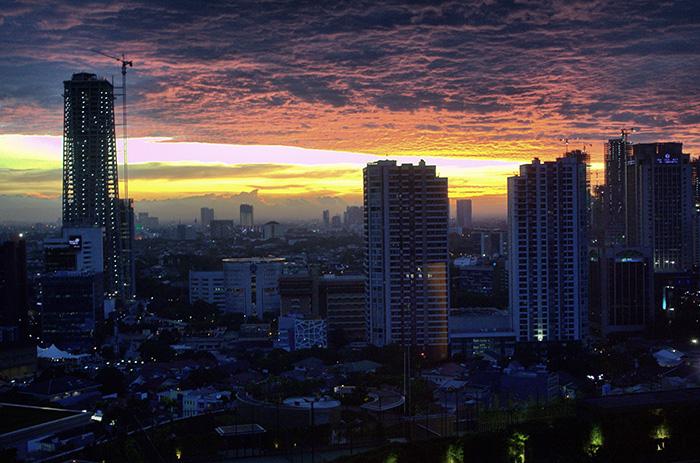 Tipps für Jakarta-Jakarta-Sonnenuntergang