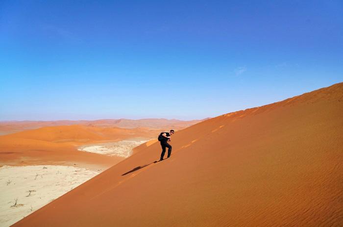 Dünenwanderung-Namibia