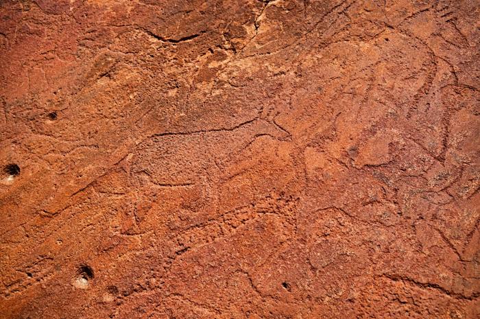 Felsgravuren-Namibia