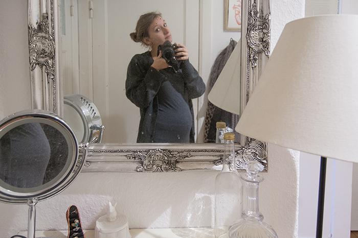 Fliegen in der Schwangerschaft-Pia schwanger klein