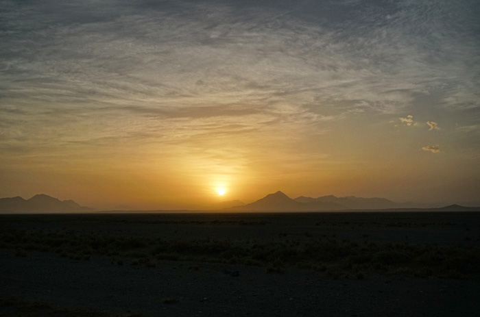 Sonnenaufgang-Namibia