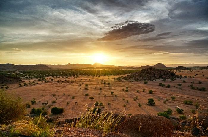 Sonnenuntergang-Afrika