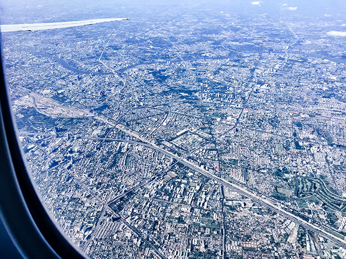 Alleine in den Urlaub - Flugzeugblick