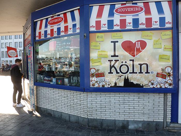 Köln im Frühling - Kiosk