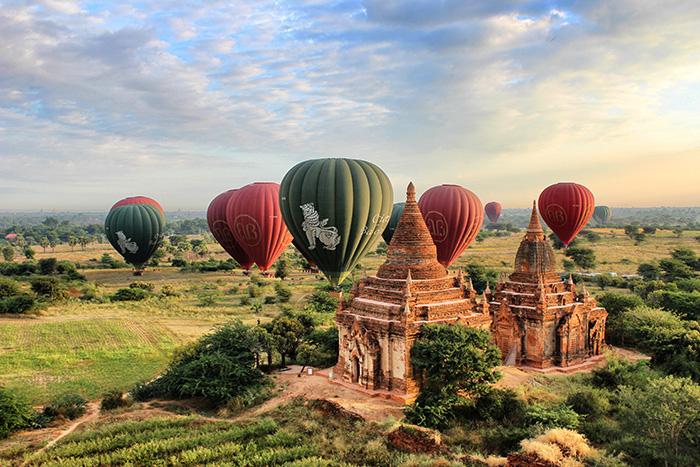 Myanmar Reise - Bagan Luftballons