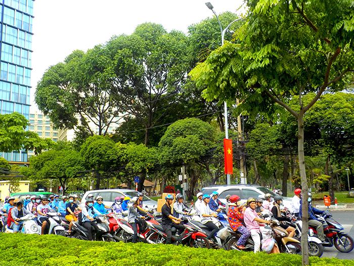 Ho-Chi-Minh-Motorraeder