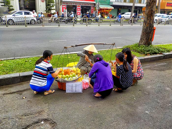 Ho Chi Minh City-Straßenverkaeufer