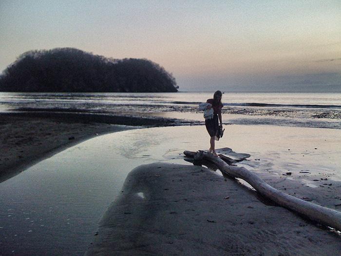 Mittelamerika-Strand-abends