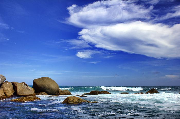 Suedaustralien-steine im meer