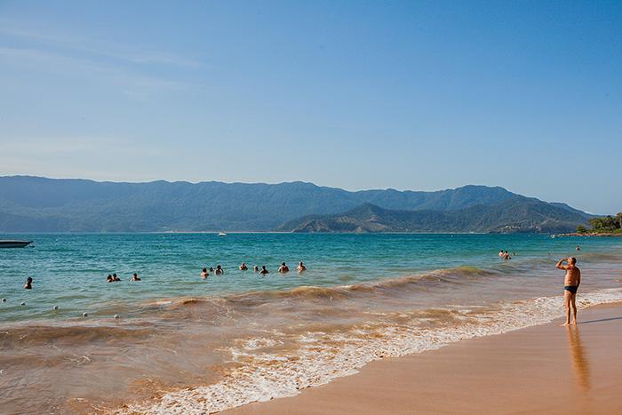 Urlaub in Brasilien - Mann am Strand