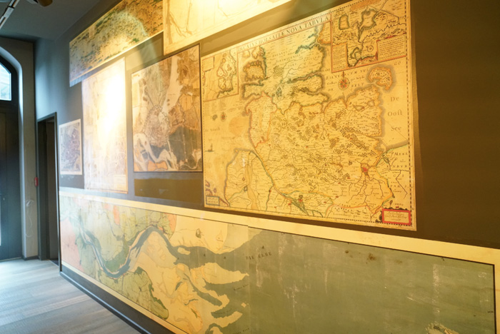 Landkarten-Wanddeko