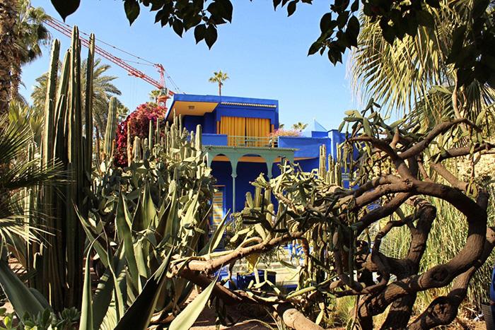 Urlaub in Marrakesch blaues-HAus