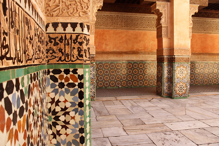 Urlaub in Marrakesh Musterwand