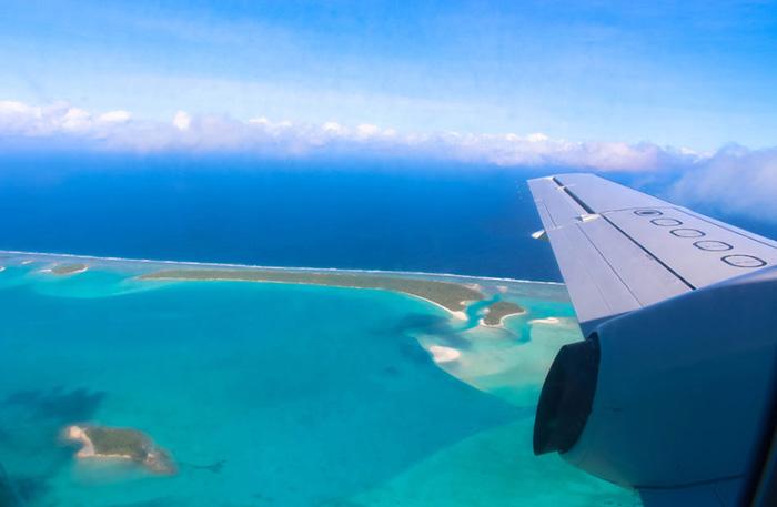 Cookinseln-aitutaki-flug