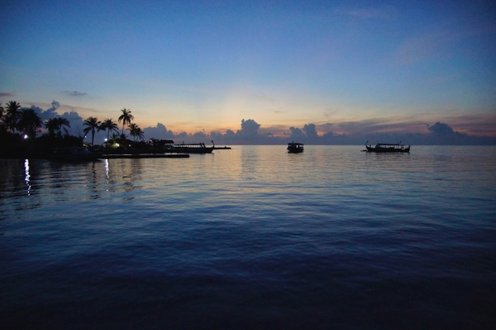 Malediven Abendstimmung Kopie