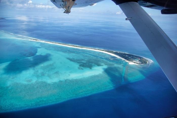 Malediven Flugzeug