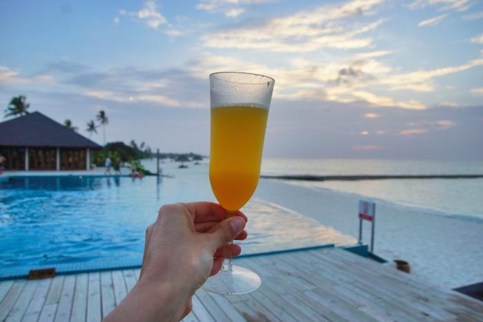 Malediven Pool Getränk